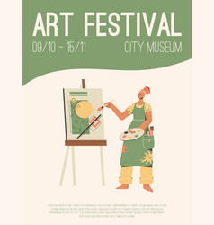 Poster art festival at city museum vector