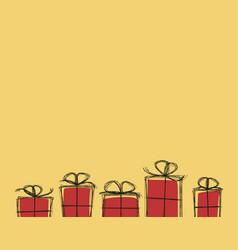 present boxex background vector image