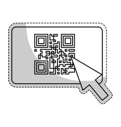 Qr code icon vector