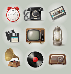 Retro icons vector