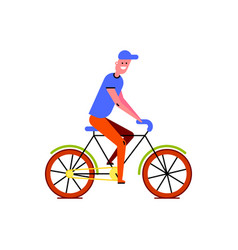 riding bike guy vector image