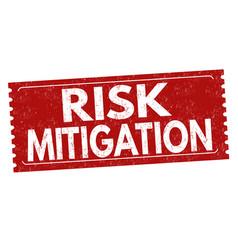 Risk mitigation grunge rubber stamp vector