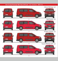 Set long l2 passenger mini vans 2018 vector