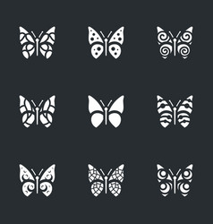 Set of butterfly icons vector