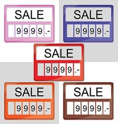 set of sale label vector image