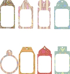 Set of tags with abstract ornament vector