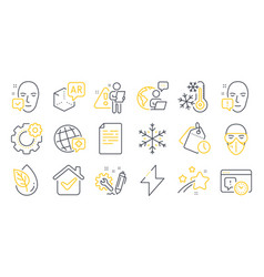 set science icons such as face accepted vector image