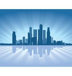 singapore skyline vector image