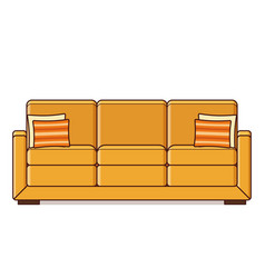 sofa icon in flat design retro style vector image