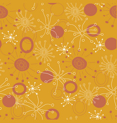 starburst doodle pattern seamless repeat vector image