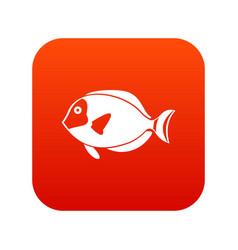 Surgeon fish icon digital red vector