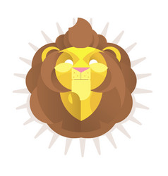 the king lion head logo vector image
