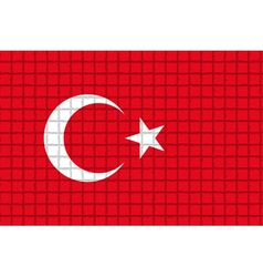 The mosaic flag of Turkey vector