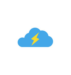 thunder cloud icon design template isolated vector image