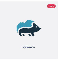 two color hedgehog icon from animals concept vector image