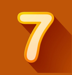Volume icons number seven vector