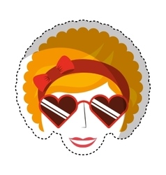 Woman character afro style vector