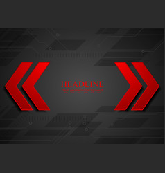 Abstract geometric corporate background with red vector image