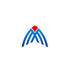 business construction line logo vector image