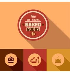 flat baked goods design vector image vector image