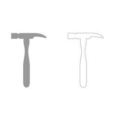Hammer set icon vector