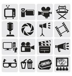 Movie icons set vector
