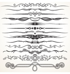 Ornate Vintage Borders and Rule Lines vector image vector image
