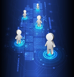 people positioning and technology design vector image vector image