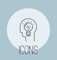 art icon design linear vector image vector image