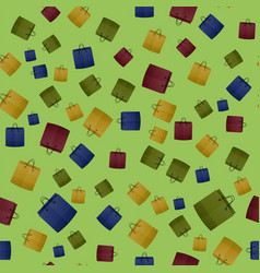 colorful shopping paper bag seamless pattern vector image