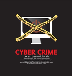 Cyber Crime vector image