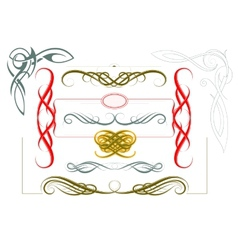 Elegant borders and frames vector image