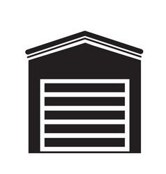 garage icon on white background garage sign flat vector image
