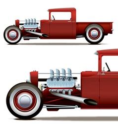Hot rod truck vector