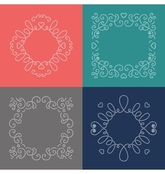 Rope frames Decorative nautical frame Marine vector image