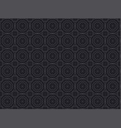 black line geometry seamless pattern vector image vector image