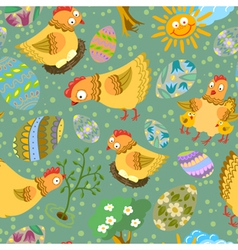 cute color easter seamless vector image vector image