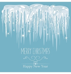 Icicles Background vector image vector image