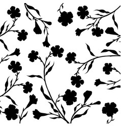 tree branches with leaves and flowers vector image vector image