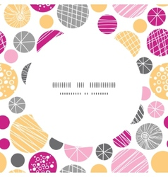 abstract textured bubbles circle frame seamless vector image