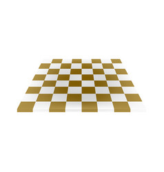Empty chess board in brown and white design vector