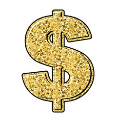 Gold dollar Currency sign of precious metal vector image vector image