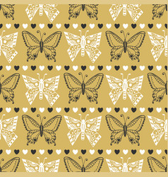 gold pattern celebration seamless background with vector image vector image