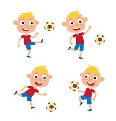 little blonde boys in shirt vector image