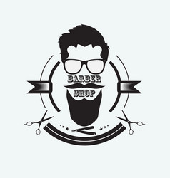 logo for the barber shop vector image vector image