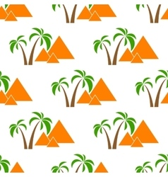 pyramids seamless isolated vector image vector image