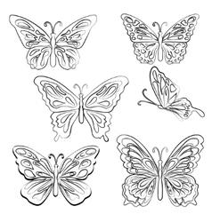 Set of butterflies vector image
