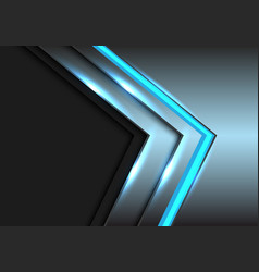 abstract blue metal light arrow technology grey vector image