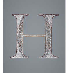 Abstract letter H vector image