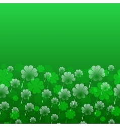 Abstract St Patrick s Day pattern vector image